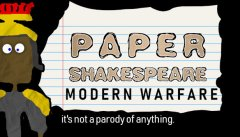 Paper Shakespeare: Modern Warfare