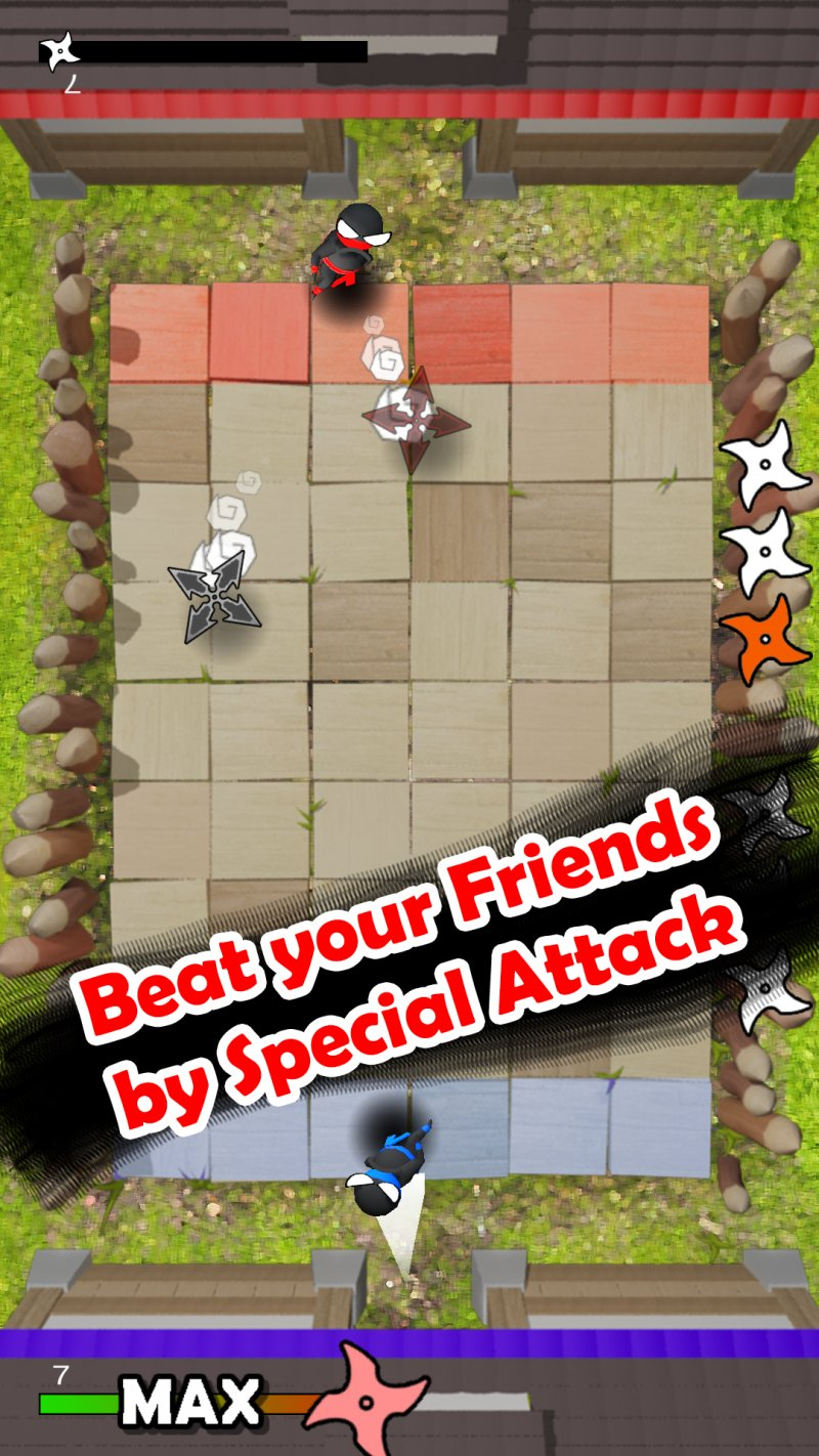 Jumping Ninja Shuriken : two Player game截图第3张