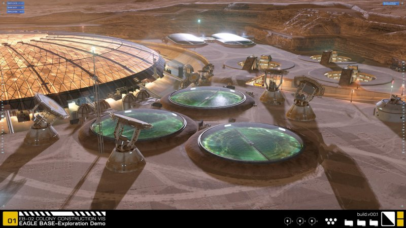 Project Eagle: A 3D Interactive Mars Base截图第4张