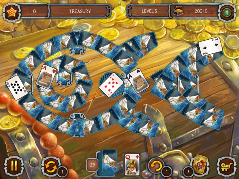 Solitaire Legend of the Pirates截图第3张