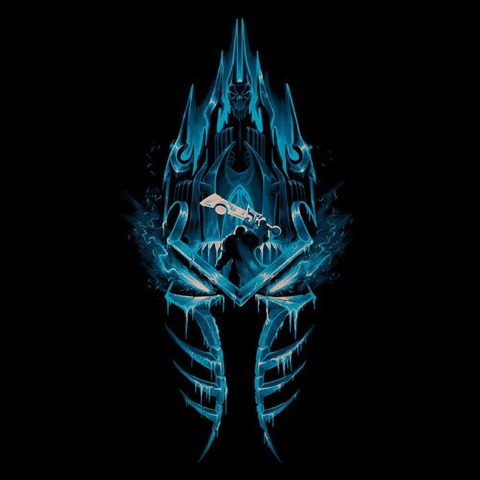 酷炫了 暴雪联名jinx设计魔兽世界主题t恤图案
