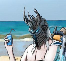 阳光沙滩小鱼人 下岗后巫妖王的休闲时光