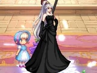 女圣职者黑色婚纱补丁分享 好一朵黑玫瑰