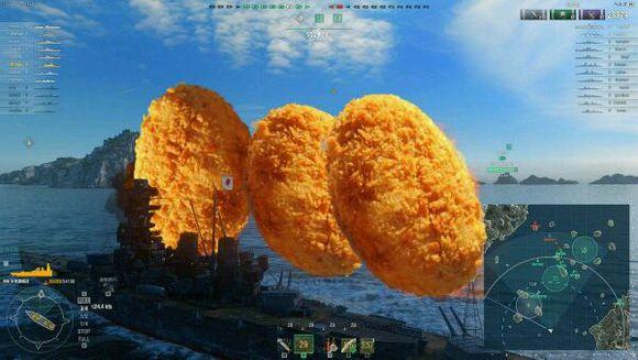 战舰世界联手餐饮业 开炮就送大鸡排
