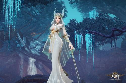 森林主题时装还有着华丽的精灵风格翅膀,搭配上萝莉款式森林时装,可以
