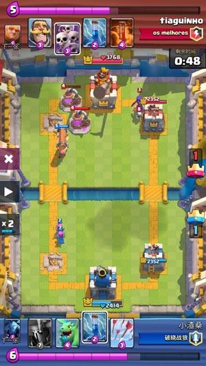 皇室战争攻城槌防守反击