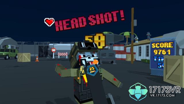 《像素射击》即将登陆vive   游戏画面如截图所示,是复古的像素风.
