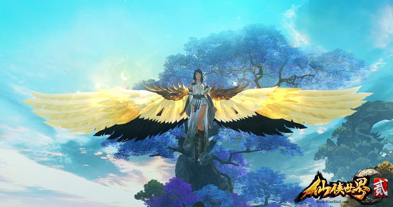 使用它展翅翱翔于天际,就仿若化身成了一只可爱的小妖精.