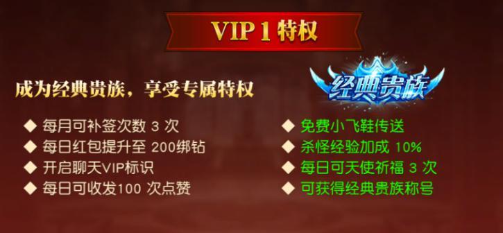 《天使纪元》VIP体系介绍