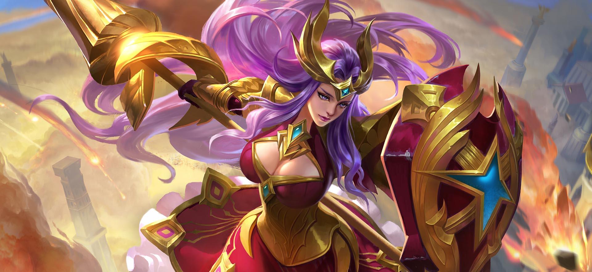 王者荣耀雅典娜胜利女神团战强杀刘备
