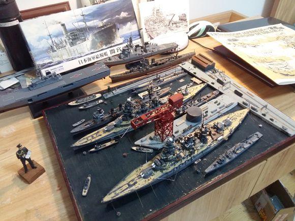 战舰世界 新做的舰模欣赏 带港口