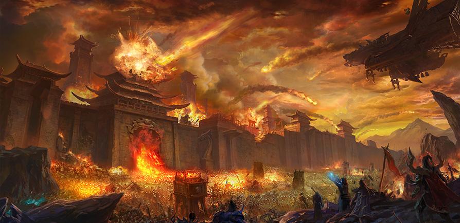 传奇世界3D 手游沙城游戏原画