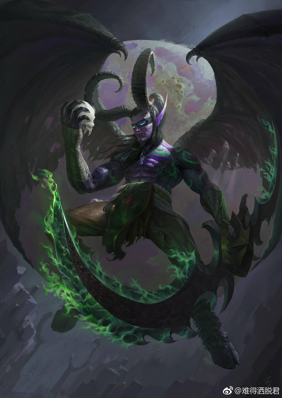 魔兽同人画作分享:感受这一万年的愤怒