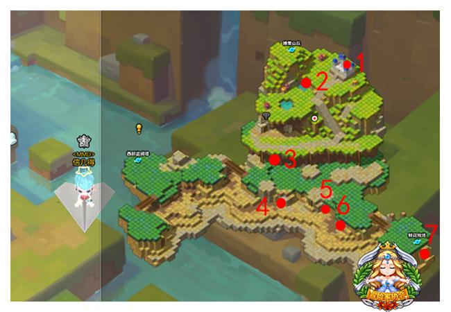 冒险岛2黄金宝箱坐标点 射手村地图