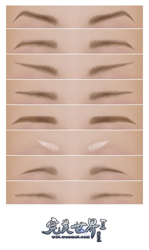 图5:部分眉形展示图.jpg