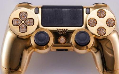 游戏土豪量身定制手柄,镀金镶钻比10台新版苹果手机还贵!