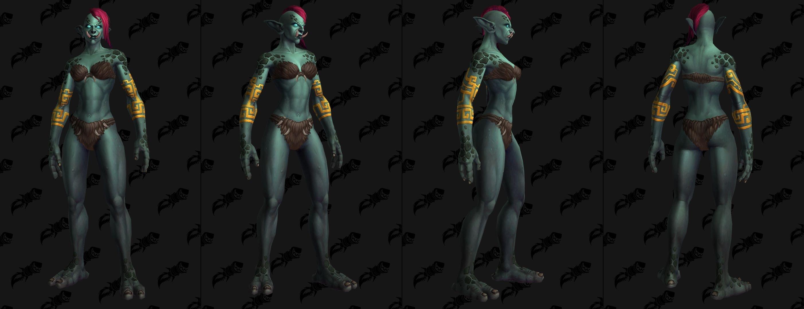土豪金 赞达拉巨魔纹身定制选项颜色改变