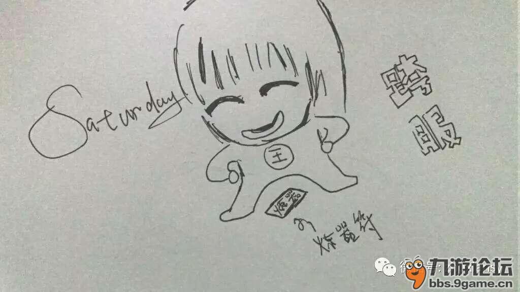 这个可爱妹子用简笔画描绘出了你一周