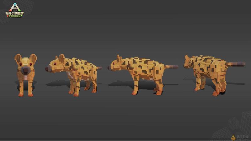 《方块方舟》新增生物:洞鬣狗
