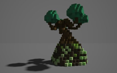 宝藏世界建造教程:基石里长出的一棵树
