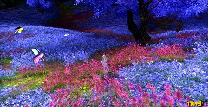 三星望月挂夜空 剑网3万花门派风景赏