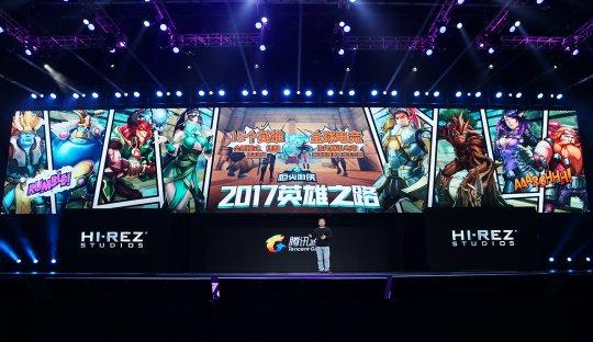 图2:腾讯互动娱乐市场部助理总经理侯淼发布《枪火游侠》.jpg