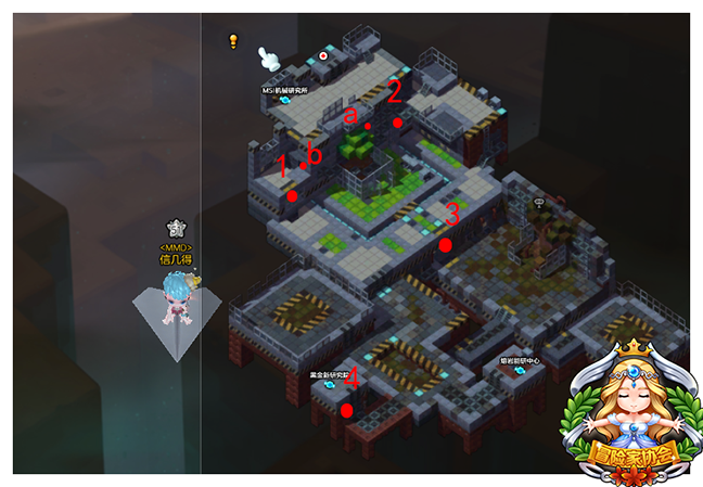 冒险岛2黄金宝箱坐标点:暗影之门