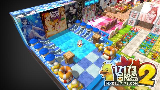 房屋建造 在冒险岛2的世界中,每个玩家都有属于自己的一套房子,玩家