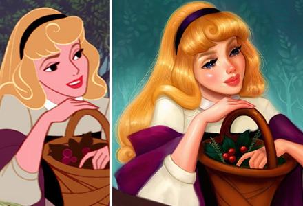 插画家重新绘制迪士尼公主 逼真的笔触让公主们美到无极限!