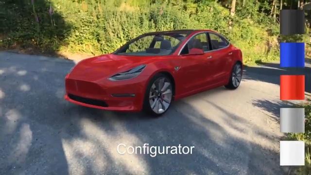 特斯拉Model 3未上市 有人用ARKit将它开上路