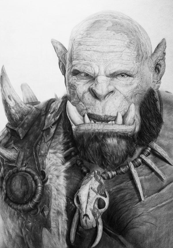 看看是否霸气 魔兽玩家同人作品部落大酋长奥格瑞姆