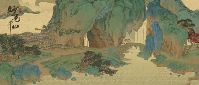 图6:游戏原画:瀑布挂青绿山间.jpg