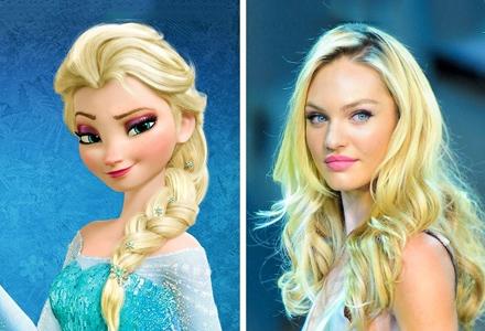 15位时尚顶尖名模简直就是迪士尼公主的化身 相似度高达90%!