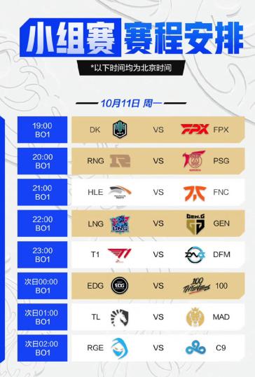 《英雄联盟》S11 小组赛揭幕战今日 19:00 开启:DK vs FPX