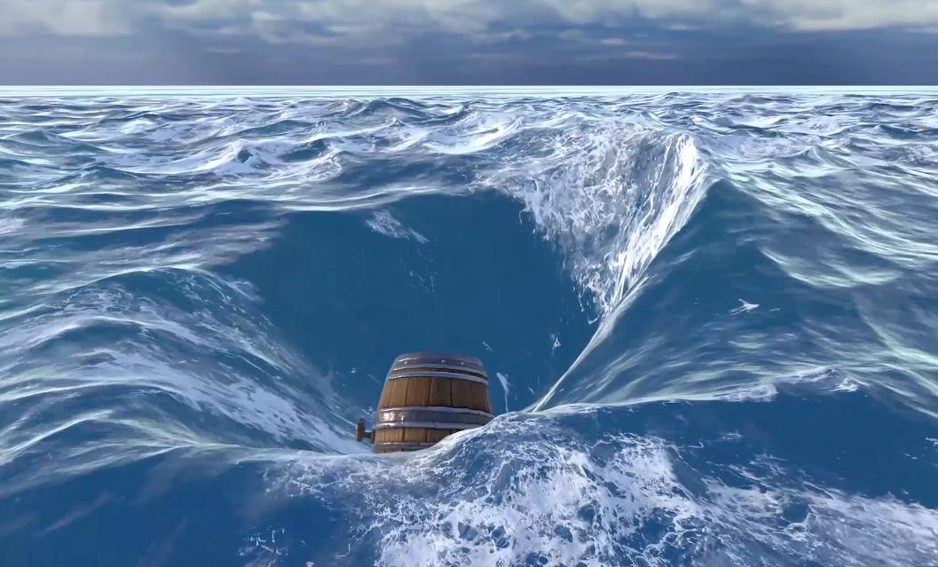 《黎明之海》海水演示