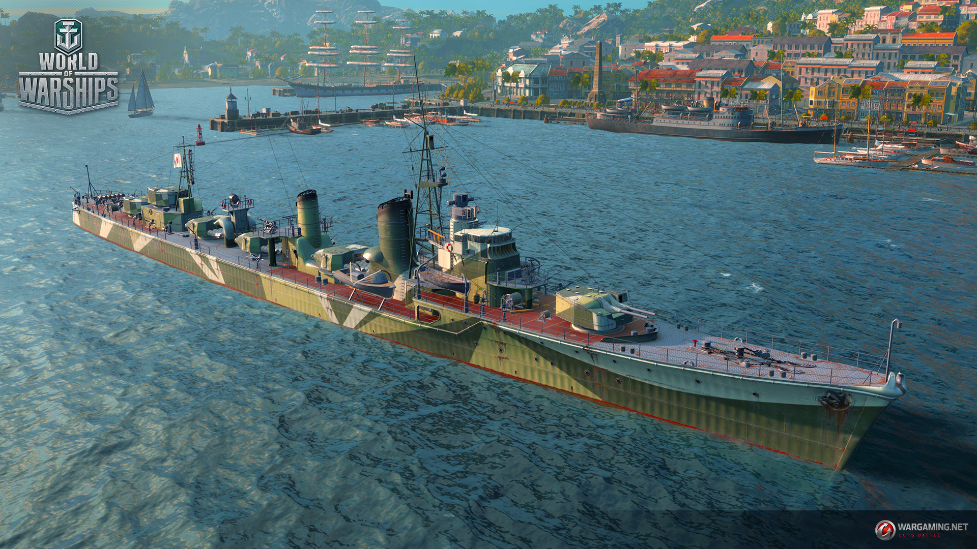 战舰世界亚服072日系战舰的迷彩预览