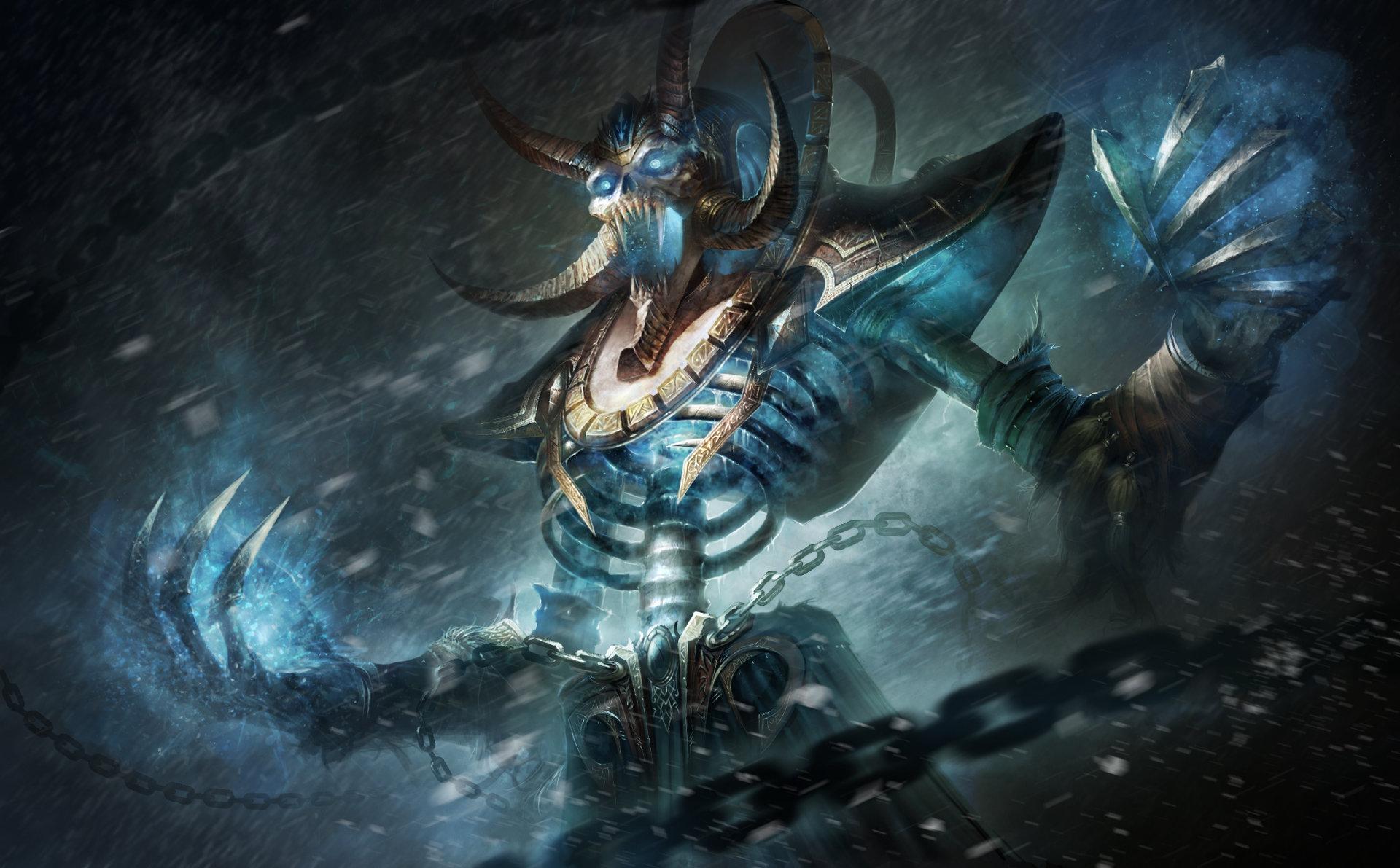 画作 天灾军团首席智囊 大巫妖克尔苏加德