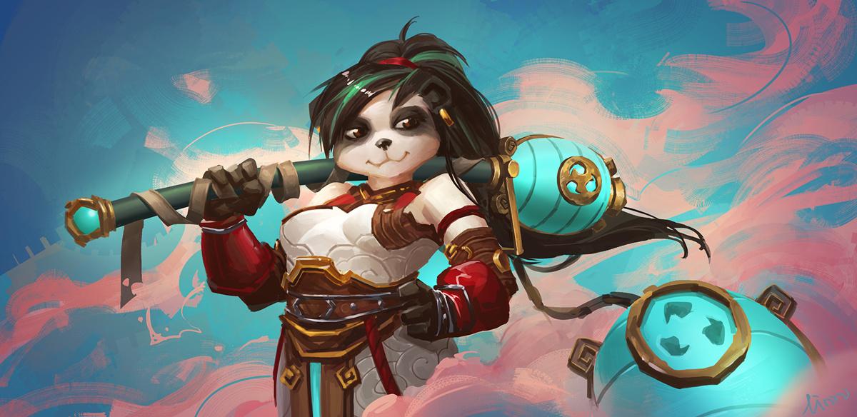 玩家绘制武僧坦克 女熊猫人什么的最萌了