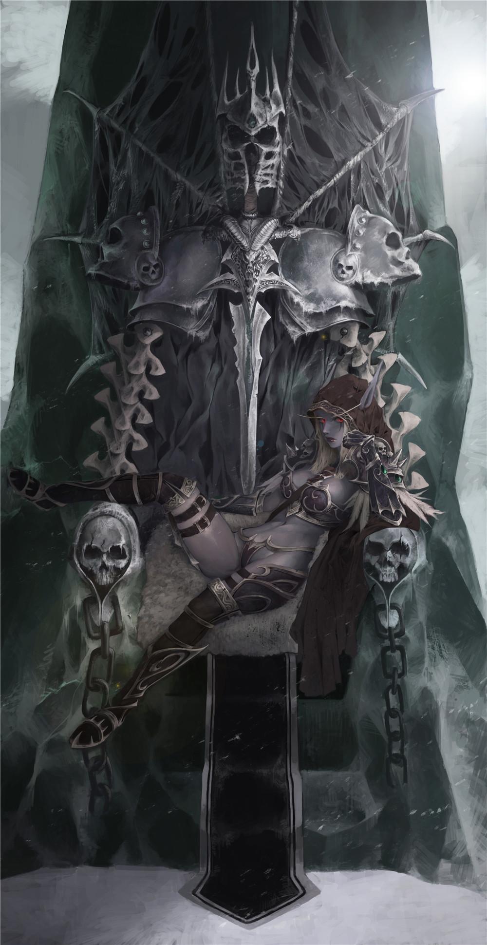 寒冰王座上的黑暗女王 性感的希尔瓦娜斯