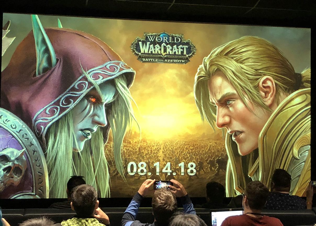 确定了!魔兽世界8.0争霸艾泽拉斯8月14日上线