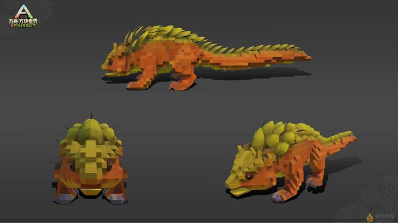 《方块方舟》新增生物:棘蜥