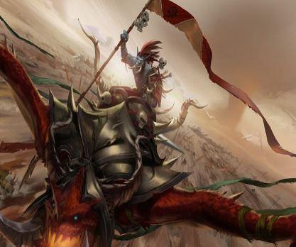骑着战争领主嗜血巨龙一往直前的巨魔