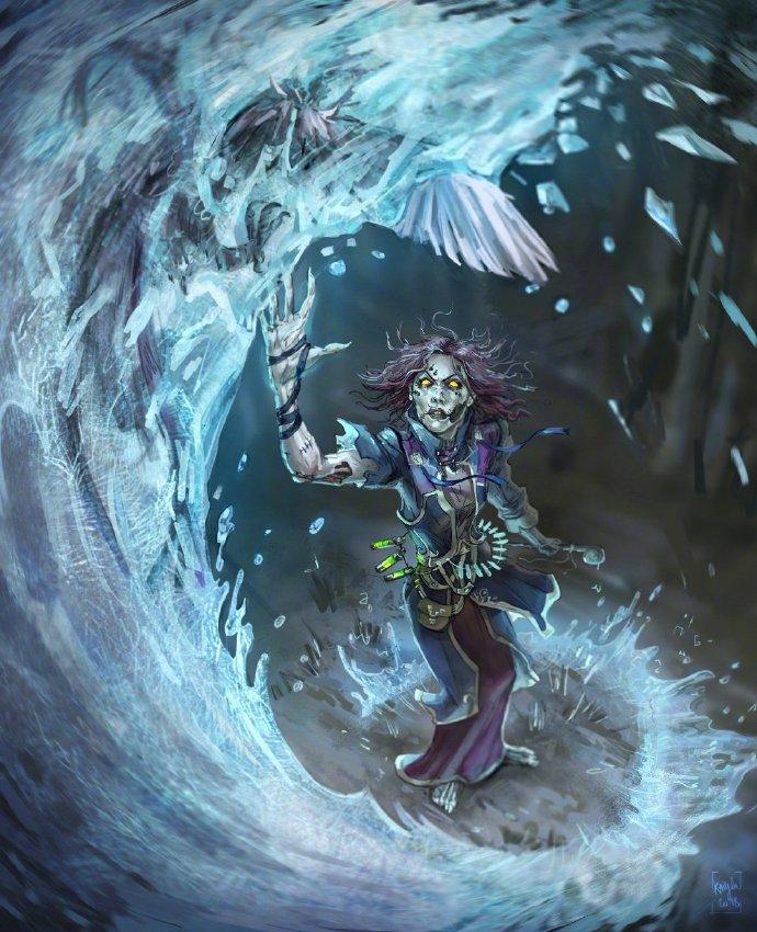 国外画师涂一张亡灵冰法 来自严寒的信仰
