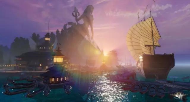 《天谕》新苏澜城鱼市区&黑帝女神像解锁