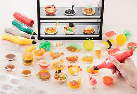 美味食堂开张啦 可以自己动手把食物神还原的3D彩笔套装