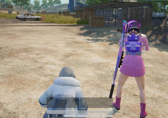 (和平精英卡盟)9张敌人视角中的101截图 你选粉色还是白色?