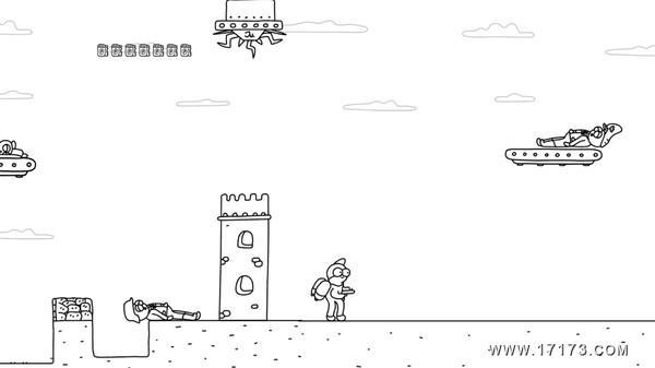 黑白手绘风 横版动作冒险游戏 《杰尼火箭》登陆steam