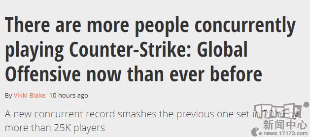 《CS:GO》同时在线人数创新纪录总玩家数量却流失超120万