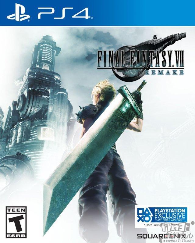 《最终幻想7:重制版》曝光新PS4游戏封面PS4将独占至2021年4月10日