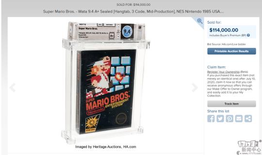 史上最贵游戏!未开封《超级马里奥兄弟》以11.4万美元价格拍卖